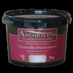 "Краска декоративная ""Arcobaleno Granello Decorativa"" база: перламутр 5 кг"