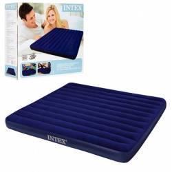 Матрас надувной Classic Downy 183*203*22 см, цв.синий Intex (68755), 875-117