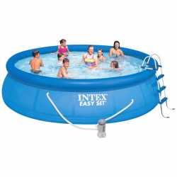 Бассейн надувной Easy Set 457*122 см + 5 аксессуаров Intex (28168) (54916), 810-154