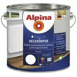 Эмаль алкидн. Alpina Для радиаторов (Alpina Heizkoerper) Белый 750мл / 0,855кг