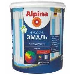 Эмаль акриловая водно-дисперсионная Alpina Аква эмаль для радиаторов 0,9 л/1,08 кг