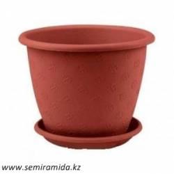 Горшок цв.Верона 180 с полл кругл,цветной Россия (М3097)