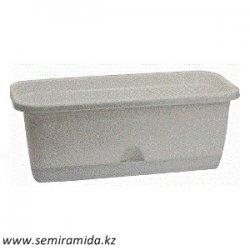 Балконный ящик 80 см с подд под мрамор арт М3222