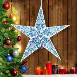 """Звезда """"С Новым годом!"""", гжель,"""