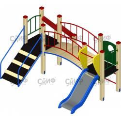 Детский игровой комплекс «Карапуз» ДИК 006 H=750