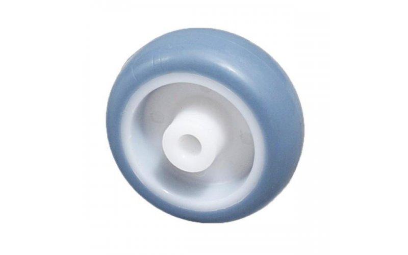 Колесо 50 мм пластмассовое с резиновым бандажом Suki