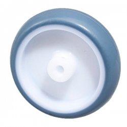 Колесо 75 мм пластмассовое с резиновым бандажом