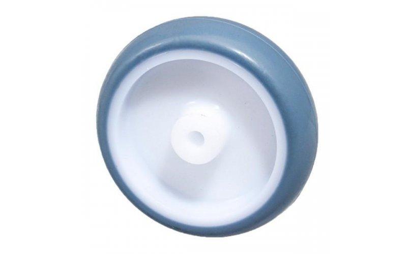 Колесо 75 мм пластмассовое с резиновым бандажом Suki