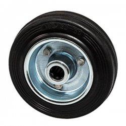 Колесо 100 мм оцинкованная сталь с резиновой шиной