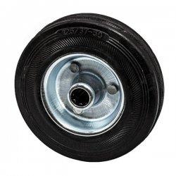 Колесо 125 мм оцинкованная сталь с резиновой шиной