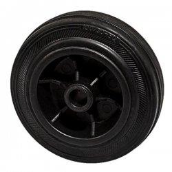 Колесо 100 мм пластмассовое с резиновой шиной