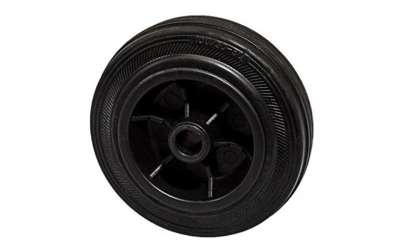 Колесо 100 мм пластмассовое с резиновой шиной Suki
