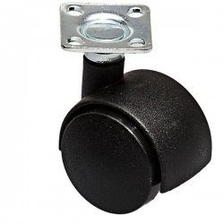 Ролик двойной на площадке 50 мм черный/черный