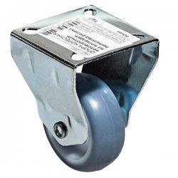 Опора колесная неповоротная на площадке 50 мм полиамид/резина