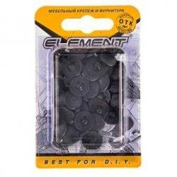 Заглушки на шуруп №3 черные (40 шт)