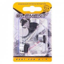Зеркалодержатель d17мм металл+пластмасса № 1 хром(4 шт)