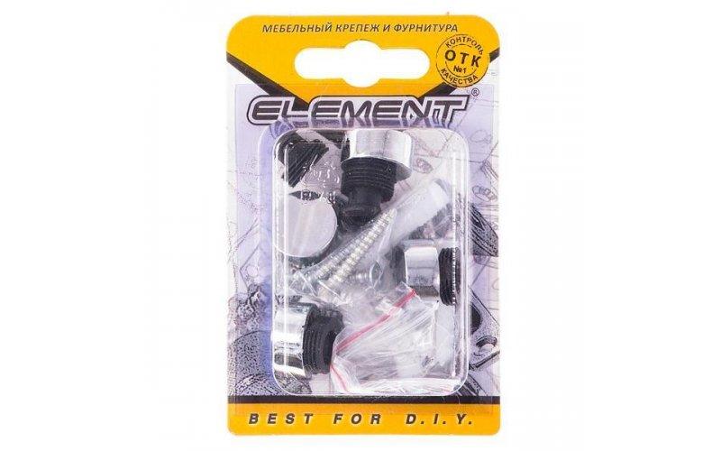 Зеркалодержатель d17мм металл+пластмасса № 1 хром(4 шт) Element