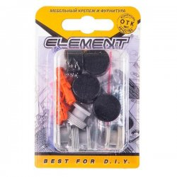 Зеркалодержатель d17мм металл+пластмасса №10 глянцевый черный (4 шт)