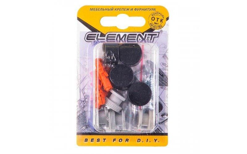 Зеркалодержатель d17мм металл+пластмасса №10 глянцевый черный (4 шт) Element