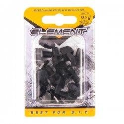 Полкодержатель лопаточка d7 мм пластмассовый с втулкой черный (16 шт)