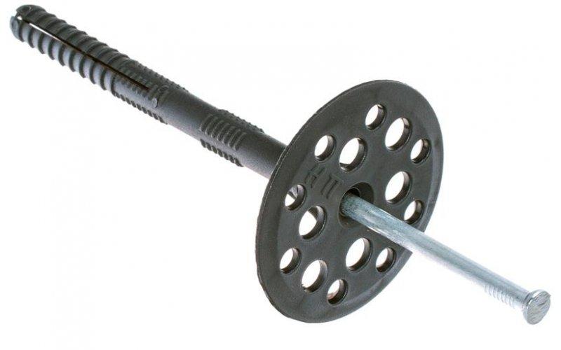 Дюбель для утеплителя с металлическим гвоздем 10х 90 (50 шт)