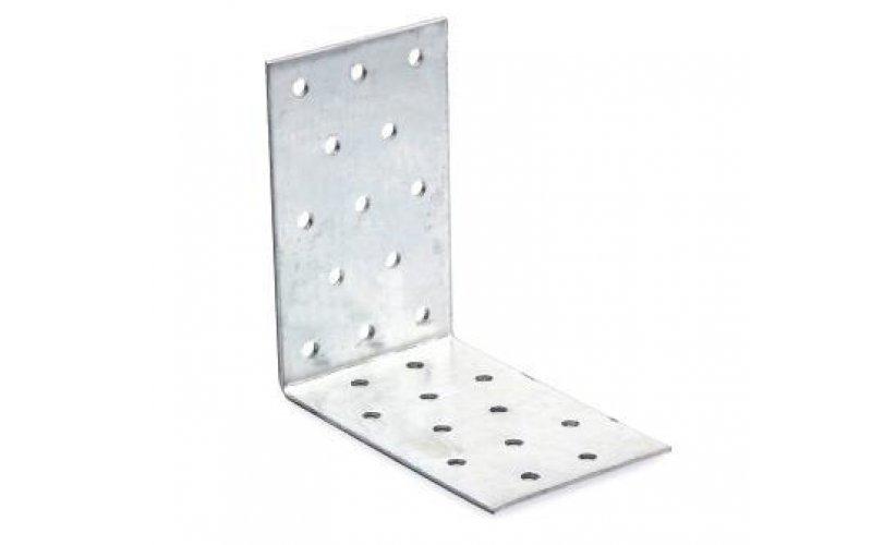 Крепежный уголок равносторонний 100х100х40х2,0мм оцинкованный