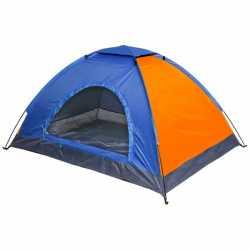 Палатка тур. 2-мест. 1-слойная ТУРИСТ МАСТЕР, цвет сине-оранж., 190*145*100, 805-054