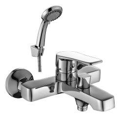Смеситель однорычажный для ванны с коротким изливом,хром DR 39036
