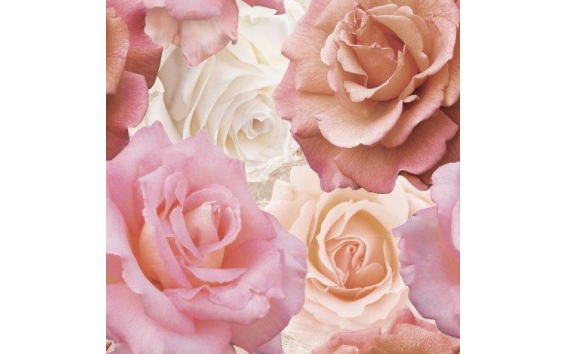 Напольная вставка: Wave, Roses, 44x44, многоцветная, (WA6E452DT)