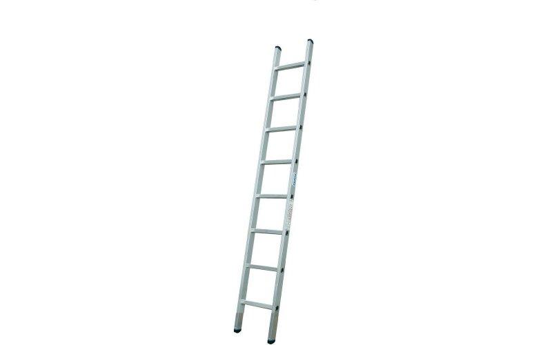 Алюминиевая лестница 1х8 Н=2,23/3,33м  (5108)