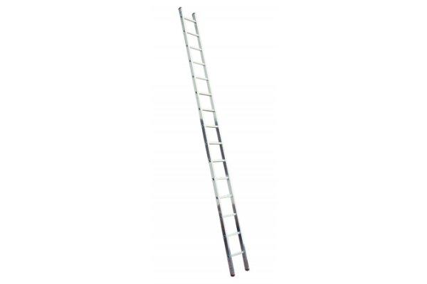 Алюминиевая лестница 1х14 Н=3,9/5,0м  (5114)