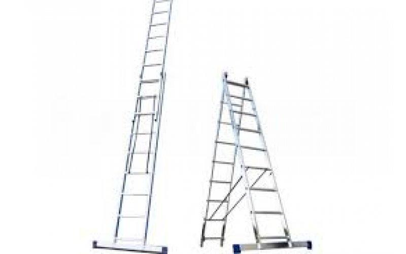 Алюминиевая лестница 2х9, Н=4,2/5,3м  (5209)