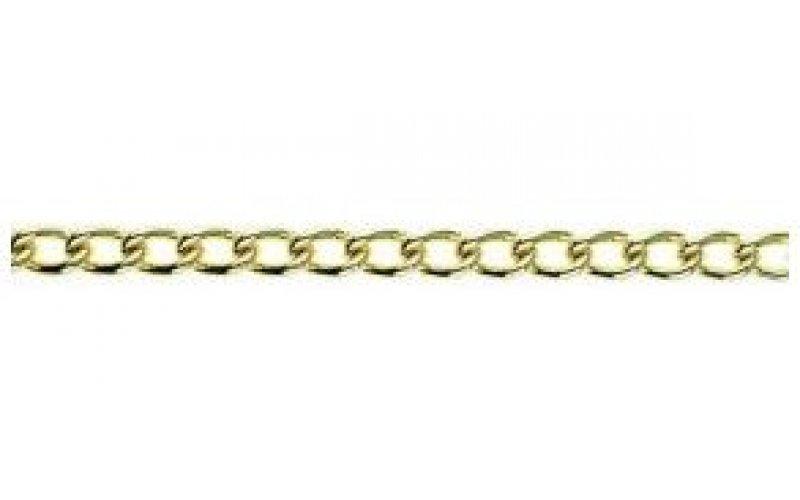Цепь 2,0мм  золото скрученная из стали гальваническая  улучш. ца