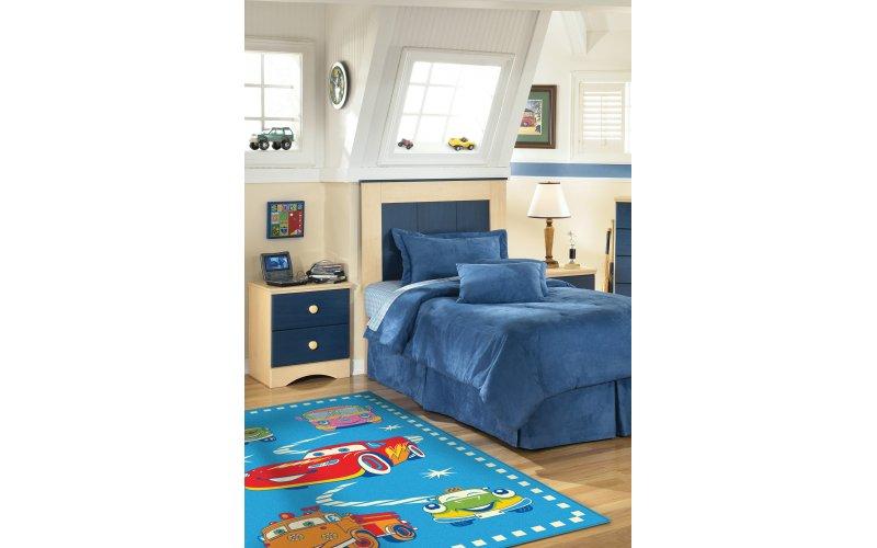 Ковер Aquarelle KIDS 0,82х1,60  машины голубой
