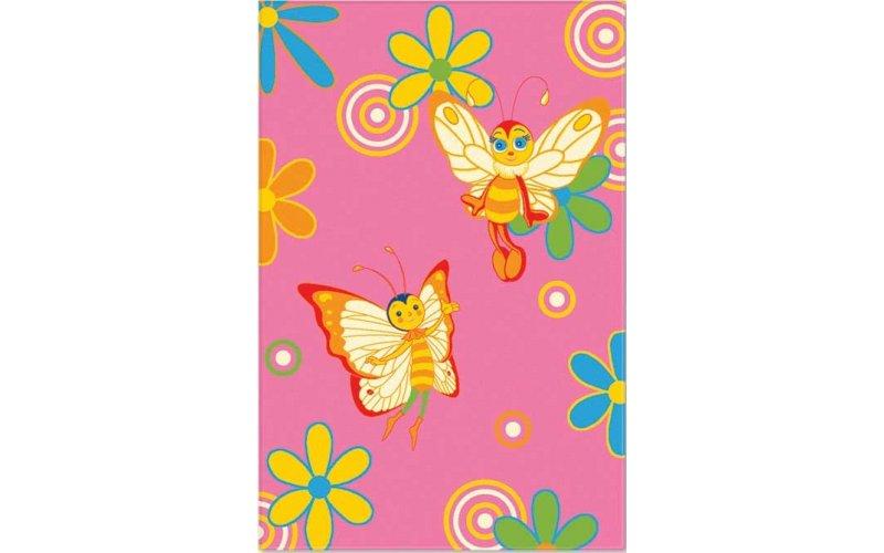 Ковер Aquarelle KIDS 1,63х2,40 Розовый бабочки