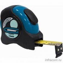 Рулетка для измерения Schlagfest,8мХ19мм,магн.,обрезин.зацеп, 2-х стор.шкала,