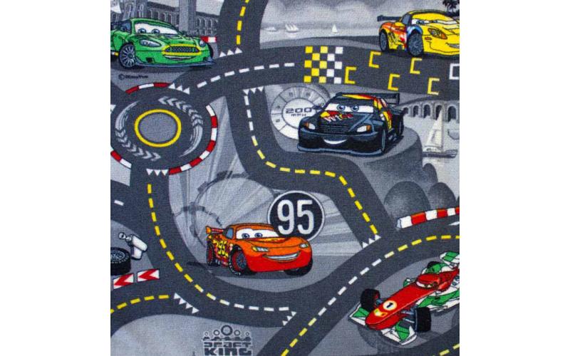 Ковролан   World of Cars 2  4м., серый