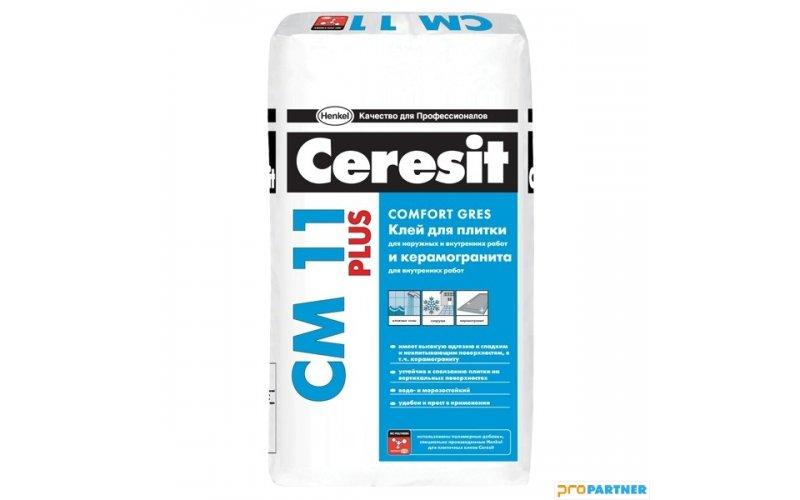 Клей для плитки    Ceresit  CM11 PLUS  д/ наружн. и внутр. работ