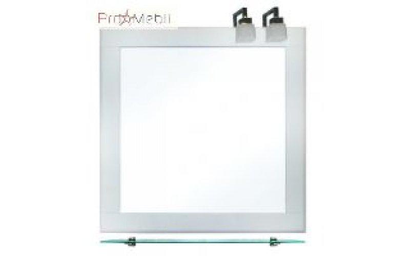 Настенное зеркало со светильником Сорренто 80