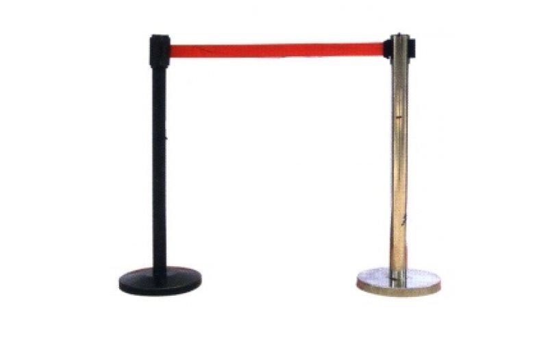 Оградительный столб h-91см,d-51мм, с вытяж. лентой 3м, черн, 110
