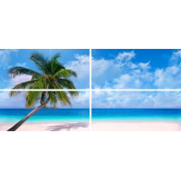 Вставка: Панно Relax  Пальма,Море,Небо