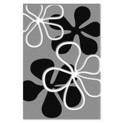 Ковролан  Duet     10866 8 22822   серый с лепестками  4м.