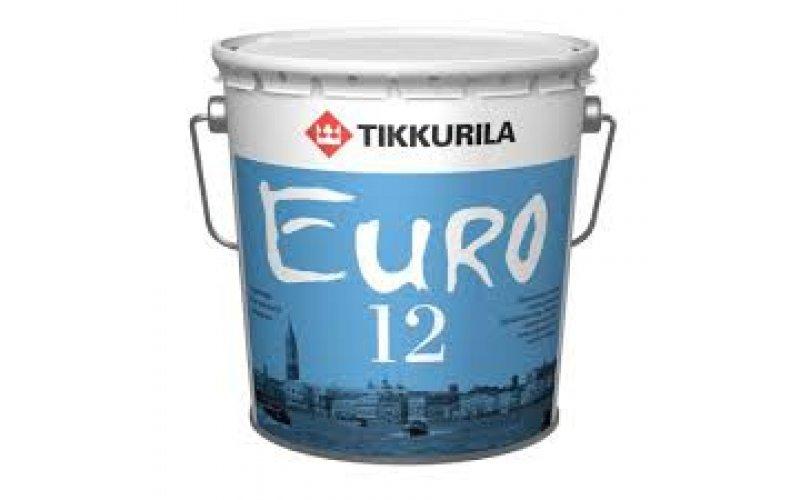 Латексно-акриловая Водоэмульсия для прихожей и кухонь Тиккурила Euro 12 9 л