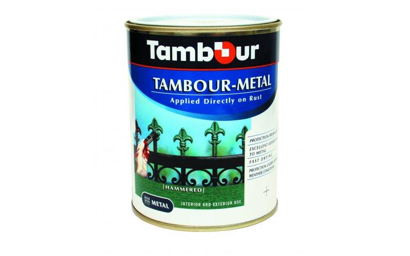 Тамбур-металл - молотковая, эмаль разн цв  4,5л   черная
