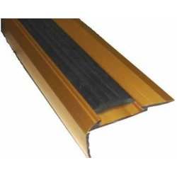 Планка  на ступени с резиновой вставкой 22*42мм 0,9 м золото