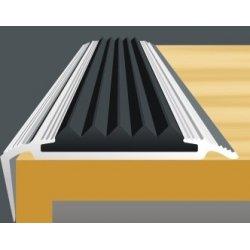 Планка на ступени со вставкой 22*42мм 270см,серебро