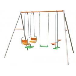 Детский комплекс(1лодочная качель. 1качель. 1скутер) AX500P6