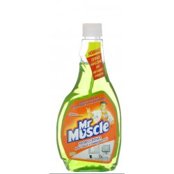 Mr Muscle для стёкол и других поверхностей со спиртом сменная бутылка 500 мл