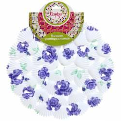 "Коврик для раковины d 28см ""Ракушки цветы"" Селфи, 335-041"