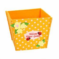 """Корзинка подарочная """"Цветочный сад"""" 11*10*10 см оранжевый 02-8647В, 775-785"""